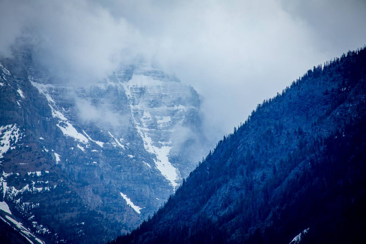A foggy mountain view in Glacier National Park. Credit: Impact Media Lab / AAAS