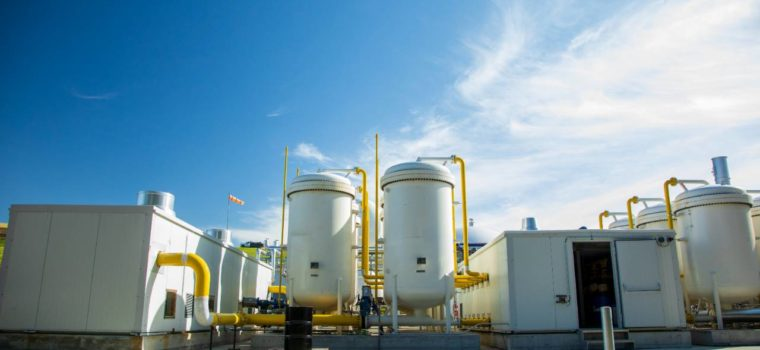 The recently completed RNG facility in Dane County. The facility converts methane harvested from a nearby landfill into renewable transportation fuel. Credit: Impact Media Lab / AAAS
